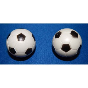 2 Checkered Soccer Balls | moneymachines.com