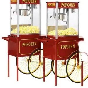 Theater Pop 16 Ounce Popcorn Machine With Large Cart Combo | moneymachines.com