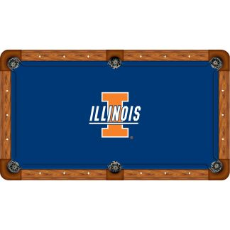 Illinois Fighting Illini Billiard Table Cloth | moneymachines.com