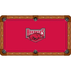 Arkansas Razorbacks Billiard Table Cloth | moneymachines.com