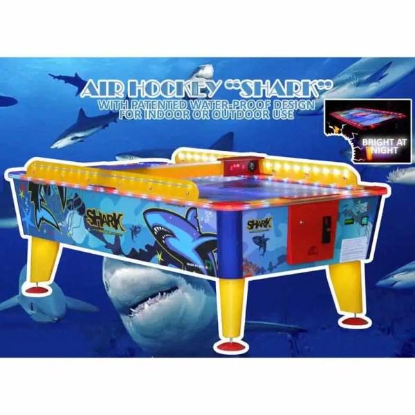 Coin Operated Weatherproof Shark Air Hockey Table | moneymachines.com