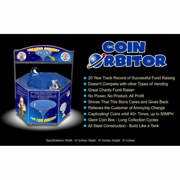 Coin Orbitor Spiral Coin Funnel | moneymachines.com