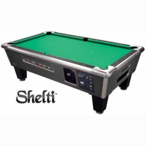Gold Standard/Shelti Coin Dollar Pool Table - Charcoal Finish | moneymachines.com
