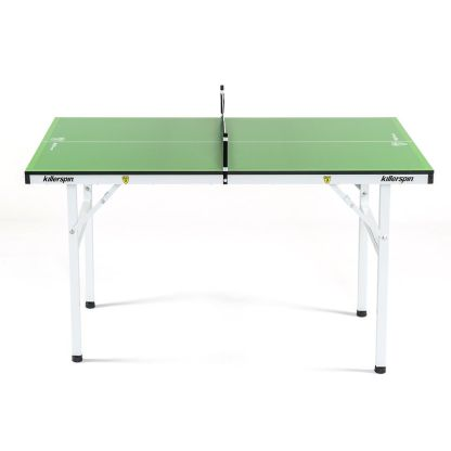 Killerspin MyT Small Lime Mini Ping Pong Table Side View | moneymachines.com