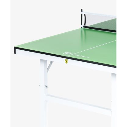 Killerspin MyT Small Lime Mini Ping Pong Table End Detail | moneymachines.com