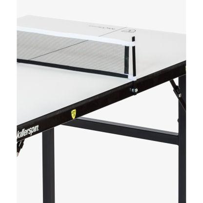 Killerspin MyT Small Vanilla Swirl Mini Ping Pong Table Legs Net Detail | moneymachines.com