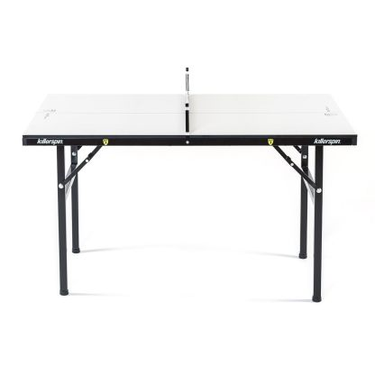 Killerspin MyT Small Vanilla Swirl Mini Ping Pong Table Side View | moneymachines.com