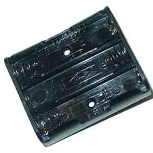 Black Plastic Battery Holder For Pinball Machines and Arcade Games | moneymachines.com