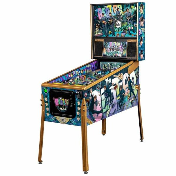 Stern Beatles Gold Edition Pinball Game Machine   moneymachines.com