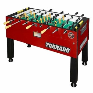 Tornado Tournament T-3000 Crimson Red Foosball Game Table - 1 Man Goalie | moneymachines.com