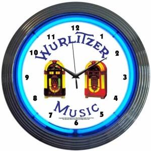 Wurlitzer Neon Wall Clock | moneymachines.com
