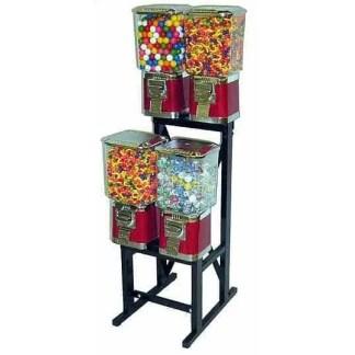 4 Pro Line Vending Machines On Black Rack Stand   moneymachines.com