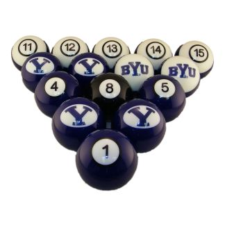 Brigham Young Cougars Billiard Ball Set   moneymachines.com