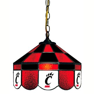 Cincinnati Bearcats Stained Glass Swag Hanging Lamp | moneymachines.com