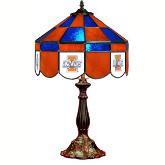 Illinois Fighting Illini Stained Glass Table Lamp   moneymachines.com