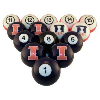 Illinois Fighting Illini Billiard Ball Set   moneymachines.com