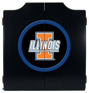 Illinois Fighting Illini College Logo Dart Cabinet | moneymachines.com