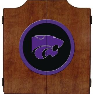 Kansas State Wildcats College Logo Dart Cabinet   moneymachines.com