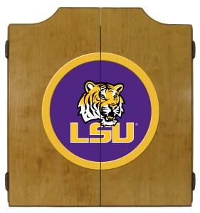 LSU Tigers College Logo Dart Cabinet   moneymachines.com