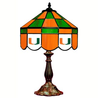 Miami Hurricanes Stained Glass Table Lamp | moneymachines.com