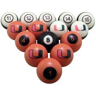 Miami Hurricanes Billiard Ball Set | moneymachines.com