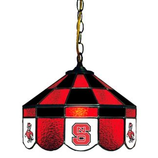 North Carolina State Wolfpack Stained Glass Swag Hanging Lamp | moneymachines.com