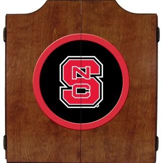 North Carolina State Wolfpack College Logo Dart Cabinet | moneymachines.com
