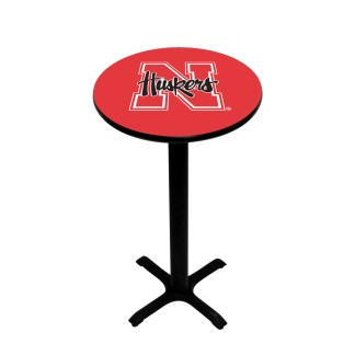 Nebraska Corn Huskers College Logo Pub Table | moneymachines.com