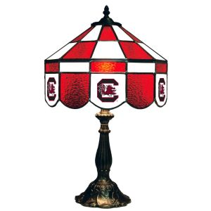 South Carolina Gamecocks Stained Glass Table Lamp   moneymachines.com