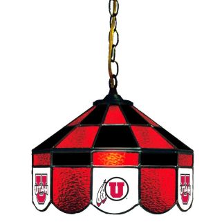 Utah Utes Stained Glass Swag Hanging Lamp | moneymachines.com