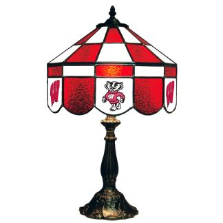 Wisconsin Badgers Stained Glass Table Lamp   moneymachines.com