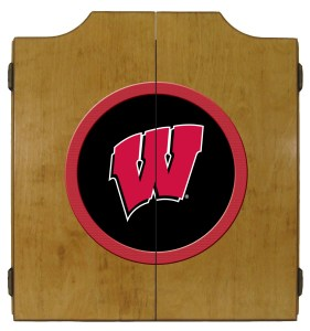 Wisconsin Badgers College Logo Dart Cabinet | moneymachines.com