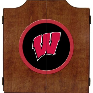 Wisconsin Badgers College Logo Dart Cabinet   moneymachines.com   moneymachines.com