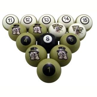 Wake Forest Demon Deacons Billiard Ball Set | moneymachines.com