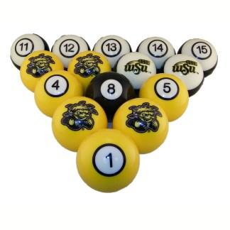 Witchita State Shockers Billiard Ball Set   moneymachines.com