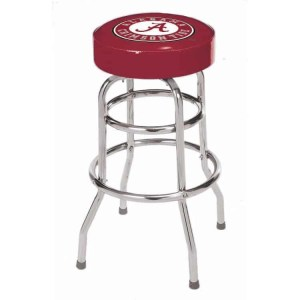 Alabama Crimson Tide College Logo Double Rung Bar Stool | moneymachines.com
