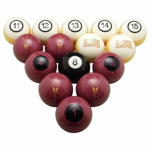 Arizona State Sun Devils Billiard Ball Set | moneymachines.com