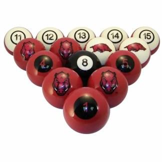Arkansas Razorbacks Billiard Ball Set | moneymachines.com