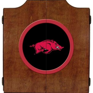 Arkansas Razorbacks College Logo Dart Cabinet | moneymachines.com