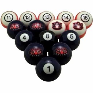 Auburn Tigers Billiard Ball Set | moneymachines.com