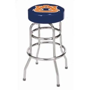 Auburn Tigers College Logo Double Rung Bar Stool | moneymachines.com