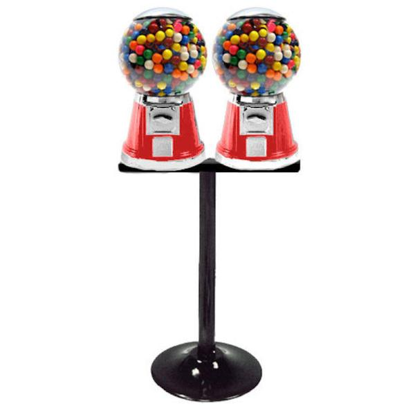 Double Big Bubble Vending Machines On Heavy Duty Stand | moneymachines.com
