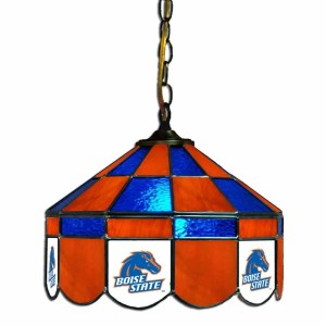 Boise State Broncos Stained Glass Swag Hanging Lamp | moneymachines.com