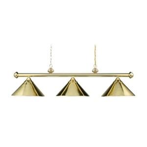 Casual Traditions LED 51 inch Polished Brass Billiard/Island Ceiling Light | ELK 168-PB-LED | moneymachines.com