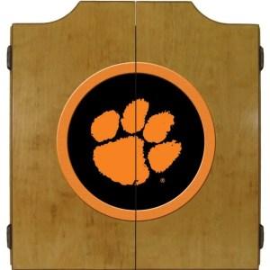 Clemson Tigers College Logo Dart Cabinet   moneymachines.com