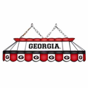 "Georgia Bulldogs MVP 40"" Tiffany Stained Glass Pool Table Lamp 