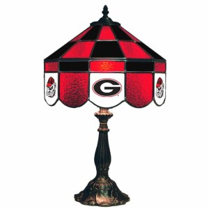 Georgia Bulldogs Stained Glass Table Lamp | moneymachines.com