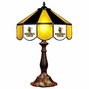 Georgia Tech Yellow Jackets Stained Glass Table Lamp   moneymachines.com