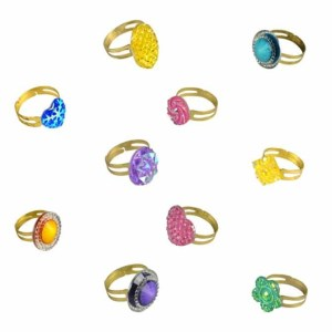 Glitz Rings in 1.1 Inch Capsules - 2000 Count Case | moneymachines.com