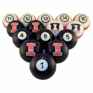 Illinois Fighting Illini Billiard Ball Set | moneymachines.com